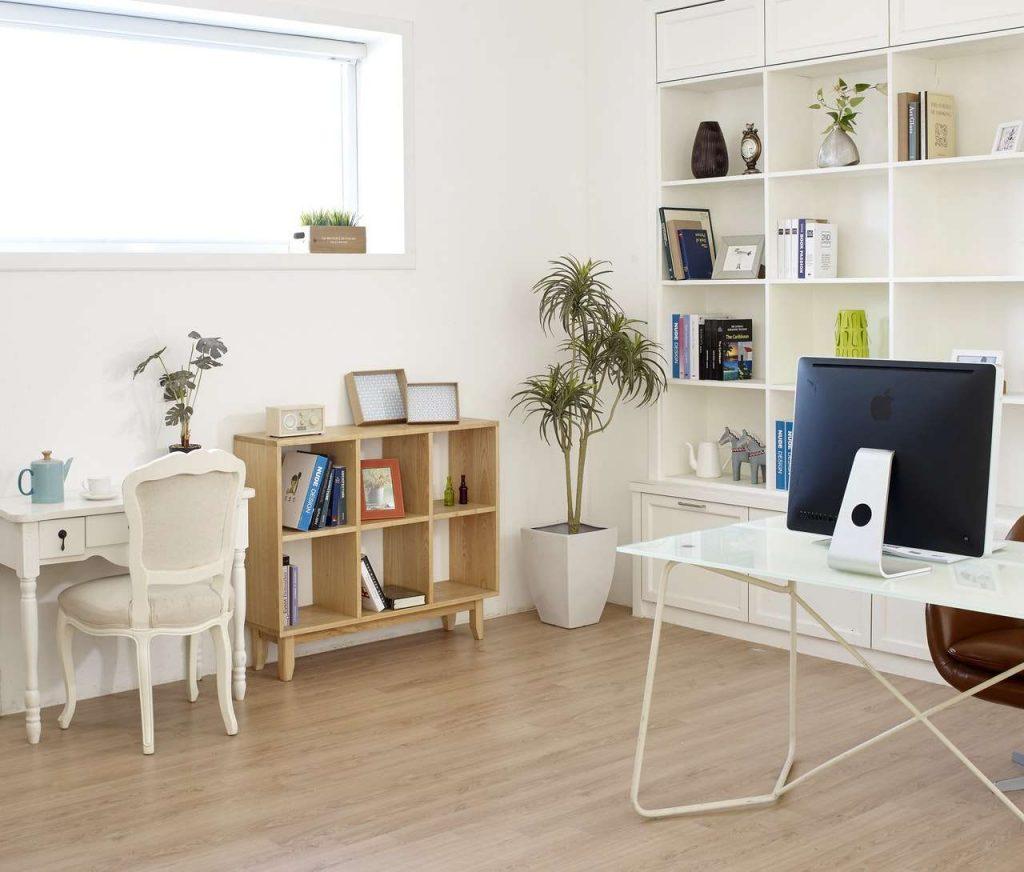 Çalışma masası beyaz dekorasyon önerileri