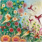 çiçek desenli dekoratif doğal taş tablo