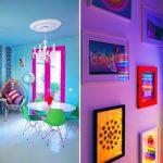 neon renkleri duvar dekorasyonu yada pencerelerde tercih edebilirsiniz