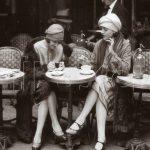 paris kafede oturan kadınlar dekoratif poster 2016