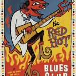 red hot blues club retro poster 2016