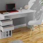 sade ve modern beyaz çalışma masası