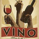 vino italiano dekoratif retro poster