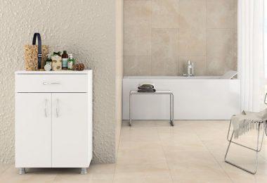 çok amaçlı beyaz banyo dolabı 2016