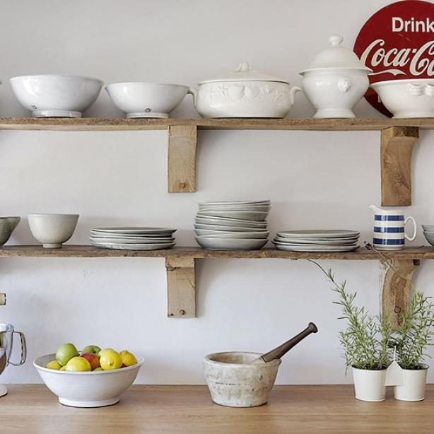 dekoratif mutfak raf sistemleri