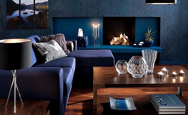 indigo mavisi ev dekorasyonu 2016