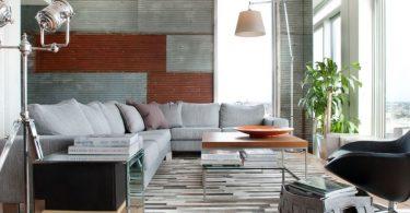 metal detaylar ile modern ev dekorasyonu 2016
