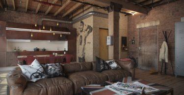 renkli ve modern loft tarzı ev dekorasyonu