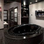 siyah lüx banyo dekorasyonu