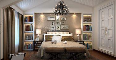 2016 lüx yatak odası dekorasyon örneği