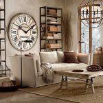 büyük duvar saatleri ile dekorasyon