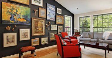 çarpıcı sanat galerisi duvar dekorasyon fikri