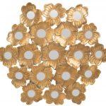 çiçek formlu mudo altın rengi ayna 2016