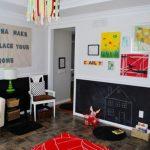 çocuk odası kara tahta dekorasyonu