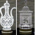 dekoratif 3 boyutlu led masa lambaları 2016