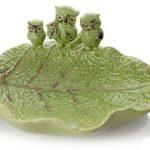 dekoratif yesil baykuşlu tabak 2016