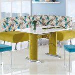 desenli banklı mutfak masaları 2016