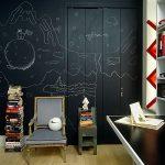 duvar ve kapı üzerine kara tahta boyası
