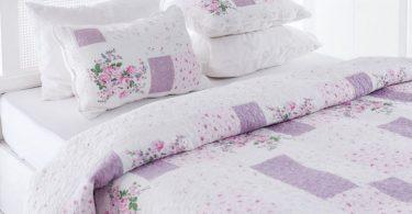 english home lila rengi yatak örtüsü