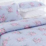 english home mavi çiçekli yatak örtüsü fiyatı 199