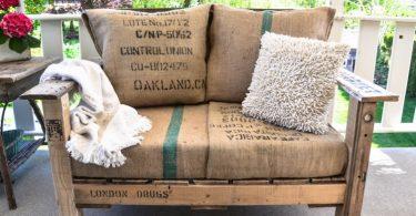 eski ahşap palet ile dekoratif koltuk tasarımı