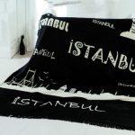 istanbul temalı modern battaniye fiyatı 54
