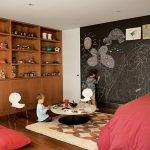 kara tahta boyası ile çocuk odası dekorasyonu