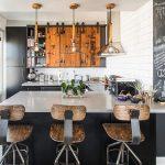 kara tahta endüstriyel mutfak dekorasyonu 2016