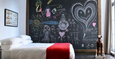 kara tahta ile dekoratif çocuk odası dekorasyonu 2016