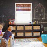 kara tahtalar ile eğlenceli çocuk odası dekorasyonu
