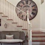 merdiven duvarı için büyük dekoratif duvar saati