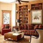 mekana sıcak bir stil katan ekoseli klasik kanepe