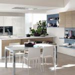ahşap dokulara sahip modern beyaz mutfak 2016