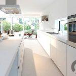 beyaz ankastre mutfak dekorasyonu 2016
