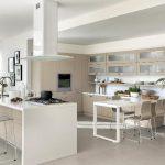 beyaz modern mutfak dekorasyonu 2016