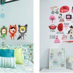 çocuk odası için eğlenceli duvar dekorasyonu