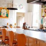 dekoratif görünüm sunan tuğla kaplama duvarlar