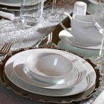 Demure 86 Parça Premium Porselen Yemek Takımı