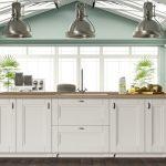 doğal ve zarif beyaz mutfak dekorasyonu 2016
