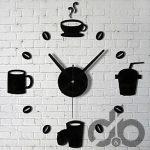 duvar saati temalı dekoratif sticker