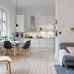 estetik iskandinav tarzı salon dekorasyonu