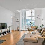 ferah ve sıcak iskandinav stili salon dekorasyonu