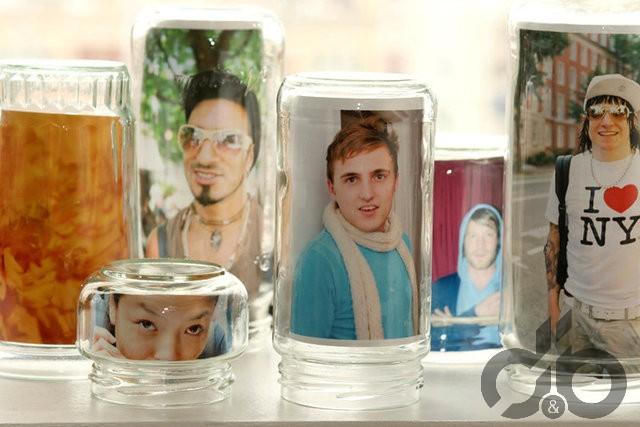 fotoğrafları cam kavanozlarda saklayın