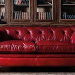 kırmızı deri chesterfield kanepe 2016
