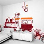 kırmızı sevimli çocuk odası duvar çıkartmaları 2016