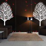 minimalist mekanlar için dekoratif duvar çıkartmaları