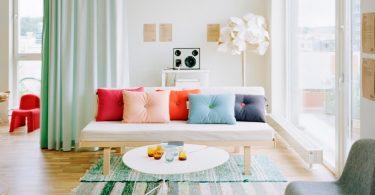 mint yeşili salon dekorasyonu