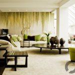 modern salon dekorasyonuna doğal bir dokunuş