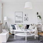 monokrom detayları ile estetik iskandinav tarzı salon