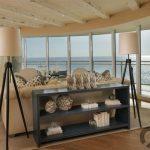 sahil tarzı oturma odası dekorasyonu